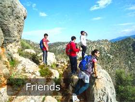 friends trekking